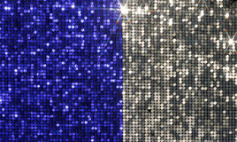 Silver and blue background mosaic Stock Photography