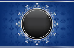Silver blue box with a black ball Stock Image
