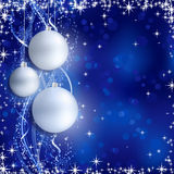 Silver blue Christmas background Stock Image