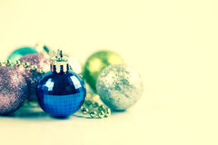 The Silver and blue Christmas decoration for Christmas holiday b royalty free stock photography