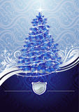 Silver-blue christmas tree Royalty Free Stock Photo
