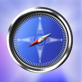 Silver and Blue Compass Stock Photography