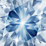 Silver and blue with concept diamond. Illustration of Silver and blue with concept diamond Stock Photography