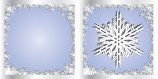 Silver Blue Greetings card Snowflake Royalty Free Stock Images