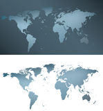 Silver blue map Stock Image