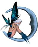 Silver-blue Moon Fairy - 2 royalty free stock photography