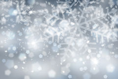 Silver blue snowflake with sparkle Royalty Free Stock Photo