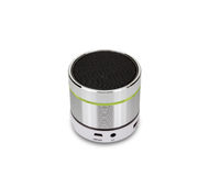 Silver bluetooth speaker isolated on white background,clipping p Royalty Free Stock Photography
