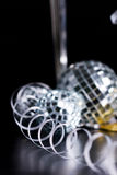 Silver bocals and serpentine decoration Stock Photo