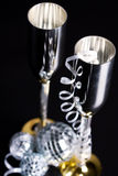 Silver bocals and serpentine decoration Stock Photography
