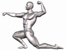 Silver Bodybuilder Royalty Free Stock Images