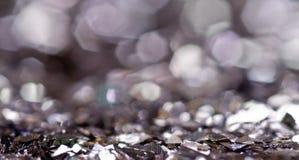 Silver  bokeh. Royalty Free Stock Image