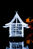 Silver bokeh abstract light background Royalty Free Stock Photo