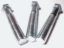 Silver Bolts Royalty Free Stock Image