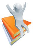 Silver book person concept Royalty Free Stock Photography