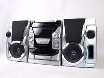 Silver Boom Box Stereo angle Stock Photos