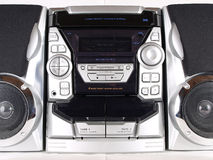 Silver Boom Box Stereo Front Royalty Free Stock Image