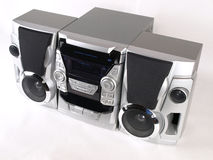 Silver Boom Box Stereo top angle Royalty Free Stock Photo