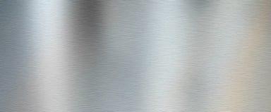 Silver borstad metalltextur royaltyfria bilder