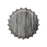 Silver Bottle Cap. Illustration of a bottle cap with a silver metallic texture Stock Photos
