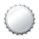 Silver bottle cap Royalty Free Stock Image