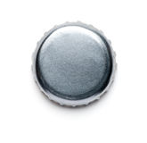 Silver Bottle Cap. On White Royalty Free Stock Image