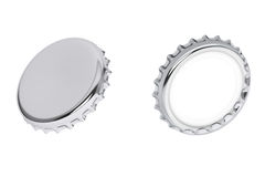 Silver Bottle Caps Stock Images