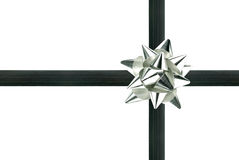 Silver bow Royalty Free Stock Photos
