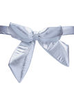 Silver bow Stock Photography