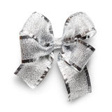 Silver bow Royalty Free Stock Image