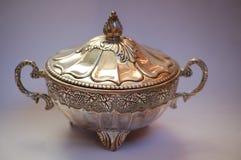 Silver bowl Stock Photos