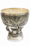 Silver Bowl art in thailand Stock Image