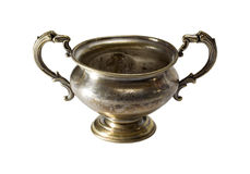 Silver bowl isolated Royalty Free Stock Image