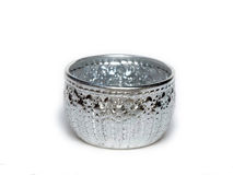 Silver Bowl from Thailand Stock Images