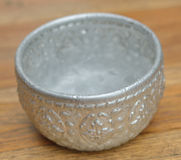 Silver bowl Royalty Free Stock Photography