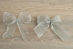 Silver bows Stock Images