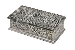 Silver box angle Royalty Free Stock Images