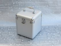 silver box with Christmas background royalty free stock images