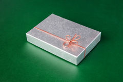 Silver box package Stock Photo