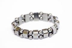 Silver bracelet Stock Photos