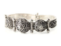 Silver bracelet Royalty Free Stock Photography
