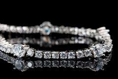 Silver bracelet Royalty Free Stock Image
