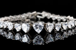 Silver Bracelet Royalty Free Stock Images