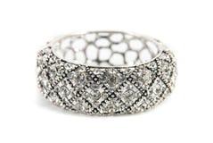 Silver bracelet Royalty Free Stock Photos
