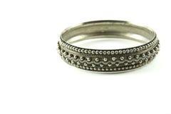 Silver bracelet royalty free stock photography