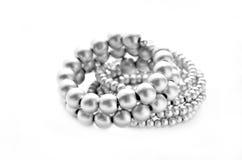 Silver bracelet Stock Images
