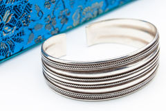 Silver bracelet Stock Photography
