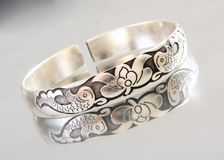 Silver bracelet Royalty Free Stock Photo