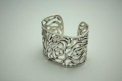 Silver Bracelet. Modern, silver bracelet jewellery Royalty Free Stock Photography