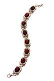 Silver bracelet with rubies Stock Image